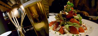 OSTERIA Fridge(オステリア フリッジ):水牛のモッツァレラチーズとトマトのサラダ