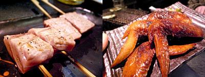 炭火焼創作料理 暖炭:本マグロの中トロを備長の炭火であぶって