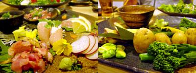 博多水炊き・とり炭火焼 寅と辰:朝引き地鶏の刺し盛り
