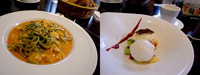 HICKORY 2 FRESCO (ヒッコリーツーフレスコ):地鶏ミンチとマッシュルームほうれん草入りスパデッティのトマトクリーム