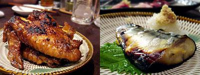 桜坂 しんすけ:手羽煮込み、しんすけ燻製さばのゆず味噌漬け