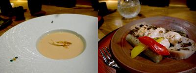 BigHeavy Kitchen (ビッグヘビーキッチン):桜海老のスープ、桜鯛白子焼き