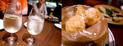Bar Vita(バール ヴィータ):生ワイン、パルメザンチーズのシュー