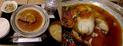 梅山鉄平食堂:日替わり 本日の魚 煮付け定食