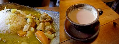 バングラデシュ雑貨とカレーの店 ハイダル:ハイダル薬膳カレーのセット(チキン)