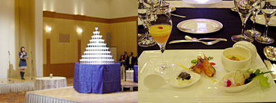西鉄グランドホテルで美食の饗宴:海胆ロワイヤル・車海老のボッタルガ風味・クリームキャヴィア・鯛マリネー・パプリカムース