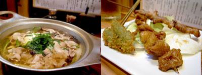 鶏だしうどん 四十五円屋:肉豆腐セット