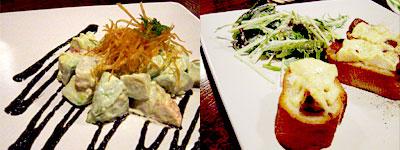 アボカドと帆立の黒胡麻サラダとか