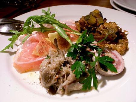 Osteria il gufo (オステリア イル グーフォ):前菜盛り合わせ