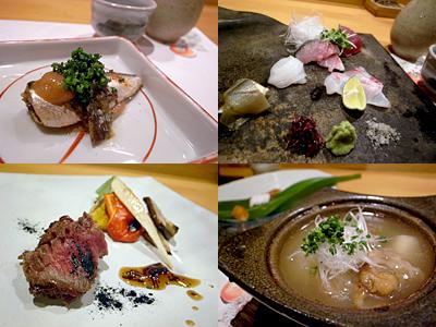 大人のごちそう周:牛イチボのステーキ、蓮根とスッポンのおでん