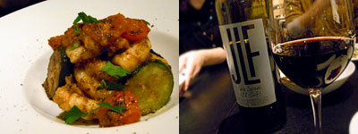 OSTERIA Fridge(オステリア フリッジ):エビとズッキーニのソテースパイス風味
