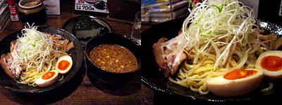 廣島つけ麺本舗 ばくだん屋:辛味噌つけそば(温)セット