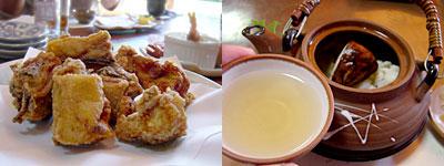 料理店 野鳥:松茸と鱧の土瓶蒸し