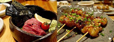 美久馬 舞鶴店:肝刺し、丸腸