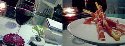 イタリアン&カフェ so-ra(ソラ):ワインと生ハムスティック