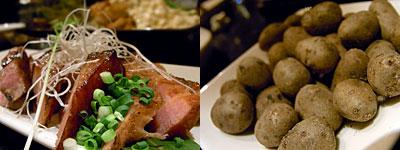 酎厨や Pura vida! (プーラビータ):宮崎おいも豚の厚切りスモークベーコン炙り焼