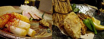 手作り料理とお酒 えん:合鴨ロース煮、真鱈と牛蒡の唐揚げ