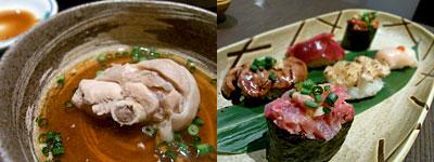 鶏専門 味味鶏(あじみどり):鶏寿司盛り合わせ