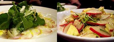 自然野菜料理 SIO菜:リンゴとタマネギのサラダ