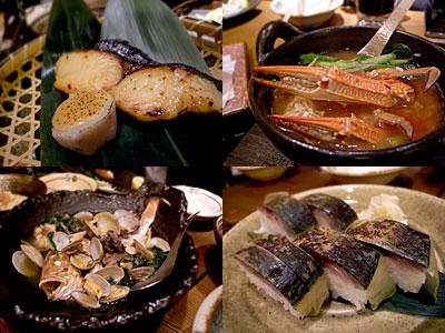 俺の割烹 博多:ワタリガニ鍋、玄界灘アクアパッツア