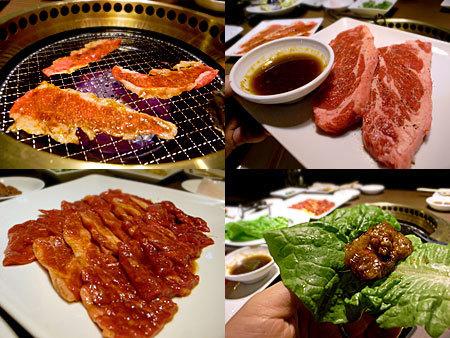 ワンカルビPREMIUM 中洲店:上カルビ焼きすき、上ロースステーキ