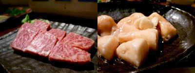 博多 牛べえ:イチボ、丸腸