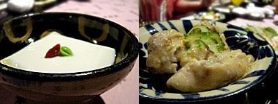 琉球料理 がちまやぁ:ジーマミー豆腐、ティビチの味噌煮込み