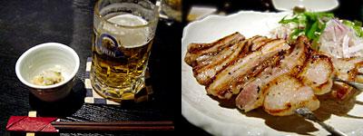 神鳥 (かみどり):茶美豚(チャーミートン)の豚バラの塩焼き