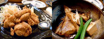 波乗り三太:鶏の唐揚げ、あかむつの煮付け