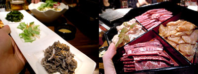 柳橋もつ元:焼肉、ホルモン、上ミノ、ハラミ、カルビ