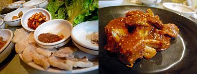 韓国料理 鄭家(ジョンガ):ポッサム、ケジャン