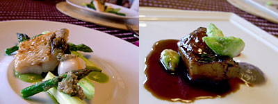 フランス料理 颯香亭(そうかてい):甘鯛のウロコ焼き、孔子の赤ワインブレゼ