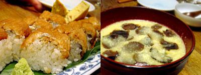 博多炉端 魚男 FISH MAN:地穴子の棒寿司、名物トリュフ雑炊