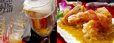 中華海鮮 威海(ウェイハイ):海老の四川風チリソース炒め