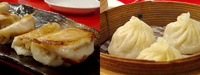 中華海鮮 威海(ウェイハイ):海老とホタテの水餃子、中国焼餃子