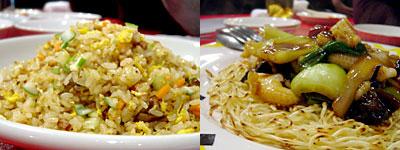 中華海鮮 威海(ウェイハイ):海鮮焼そば、五目炒飯