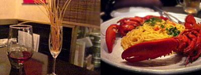 Zipang (ジパング):オマールエビ 丸ごと クリームパスタ