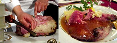 西鉄グランドホイル:国産牛リブロース肉のローストビーフ
