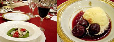 西鉄グランドホイル:大豆コンニャクのオリーブの葉風味炒め、チェリージュビレ