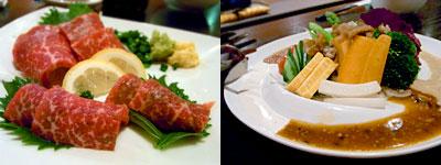 韓国ダイニング 豚そっくす(とんそっくす):国産和牛の霜降り刺し、特製豚そっくすサラダ