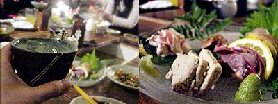 白金地鶏本舗 トリチチ:刺身盛り合わせ(豊のしゃも)
