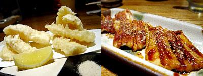 Toc-Toc (トクトク) 警固店:竹の子の天ぷら、あなごの蒲焼