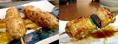 焼とり 鳥次(ちょうじ):だんご、ねぎ巻