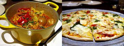 Dining TORIDE (砦):トリッパの煮込み、マルゲリータ
