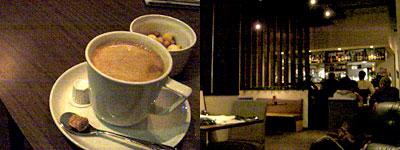 深夜のカフェ