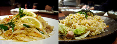 亜 dinning KIMAMA:タイ風焼きビーフン、地鶏のガーリックチャーハン