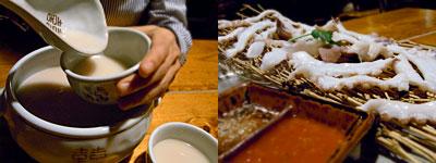 スルゴレ:マッコリ、手長ダコの刺身