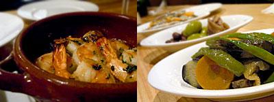 trene DELI&BAL (トレネ):海老のオイル焼き、オリーブ&アンチョビ