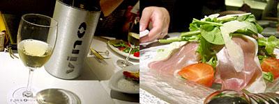 フィッシュ&オイスターバー:イタリア産生ハムのグリーンサラダ