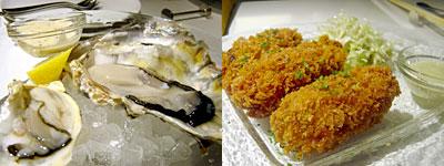 フィッシュ&オイスターバー:生牡蠣たち